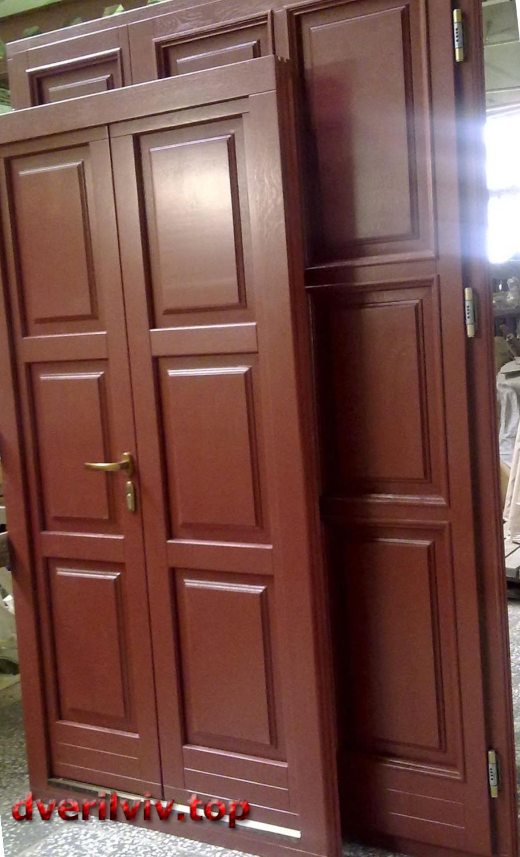 Двері зовнішні дерев'яні Львів :: Низькі ціни у Львові