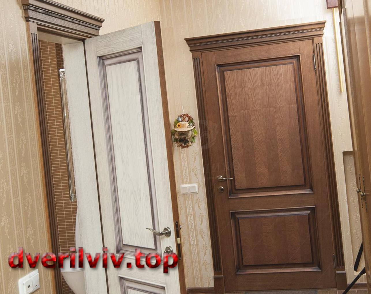 Двоколірні міжкімнатні двері :: Низькі ціни у Львові
