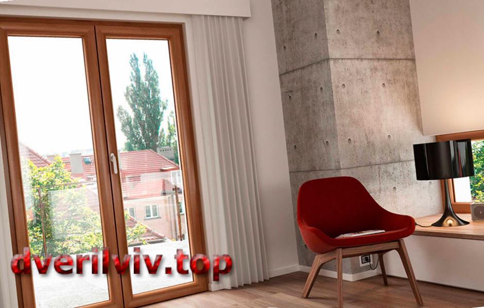 Двостулкові (штульпові) двері REHAU :: Низькі ціни у Львові